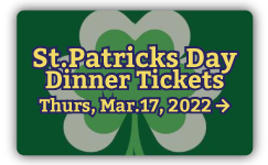 Vanderheyden St. Patrick Day Dinner Tickets