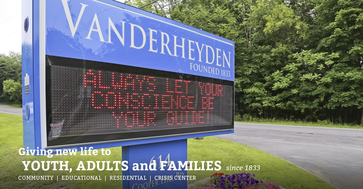 Sign Vanderheyden has a distinguished history of helping children and families for more than 180 years.